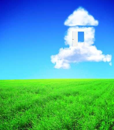 Photo for Conceptual image - dream of own house - Royalty Free Image