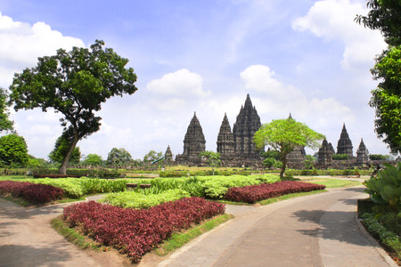 Shrine of Prambanan hindu temple, Yogyakarta, Central Java, Indonesia.