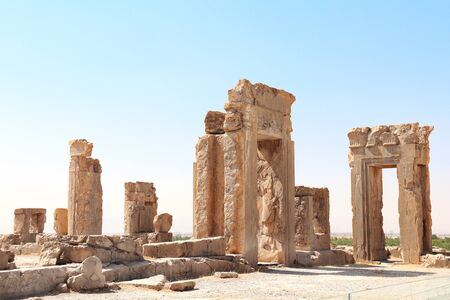 Photo for Ruins of Tachara Palace built by Darius the Great, Persepolis,  Iran. - Royalty Free Image