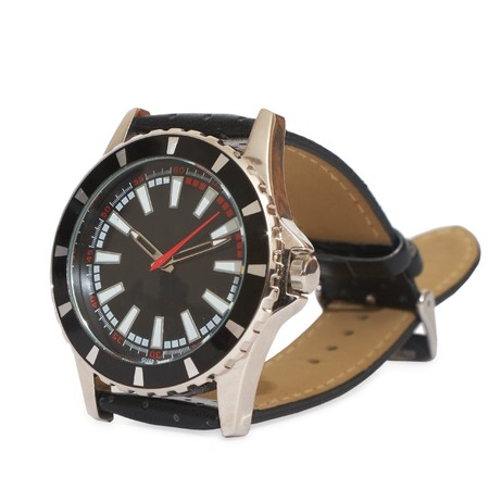 Lluxury man watch. Isolated on white, with clipping path.