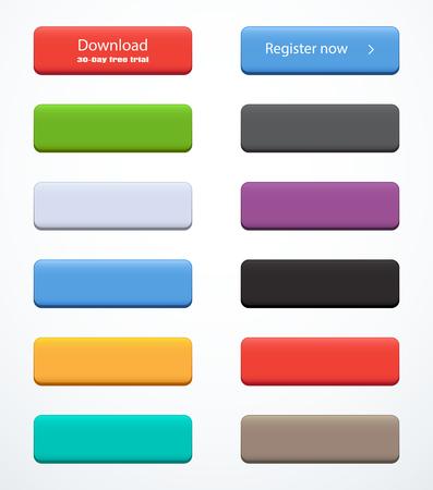 Illustration pour Set of rectangle buttons - image libre de droit