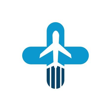 Vacation Travel Plane Healthy logo icon