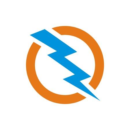 Illustration pour circle electric logo power volt - image libre de droit