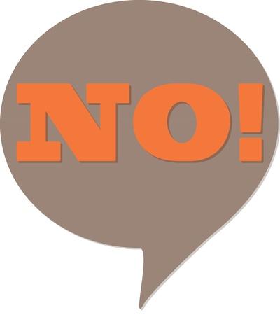 Illustration pour No! comic talking bubble - image libre de droit