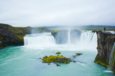Godafoss waterfall in the northern Iceland
