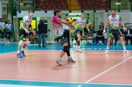 MILAN, ITALY –DECEMBER, 1:   F. Bonami (Globo BP)   in Vero Volley  Monza – Globo BP Frosinate Sora  ( Italian Volley League A2) on December, 1 , 2013 in Milan , Italy