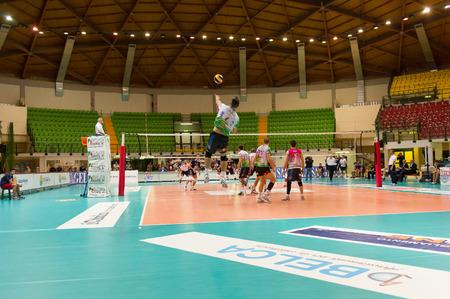 MILAN, ITALY – DECEMBER, 1:    N. Daldello (6)  in Vero Volley  Monza – Globo BP Frosinate Sora ( Italian Volley League A2) on December, 1  , 2013 in Milan , Italy
