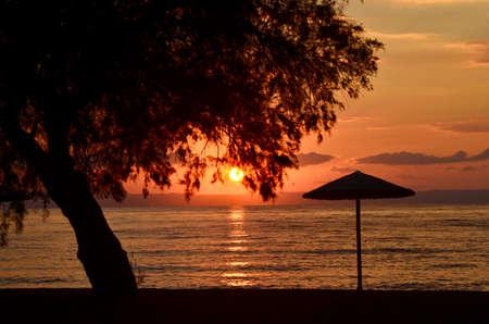 Greece, sunrise in gulf of Volos