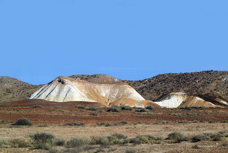 landscape by the Breakaways near Coober Pedy, Australia