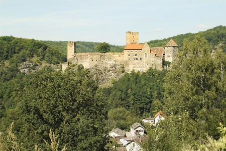 Austria, castle and homes in Hardegg