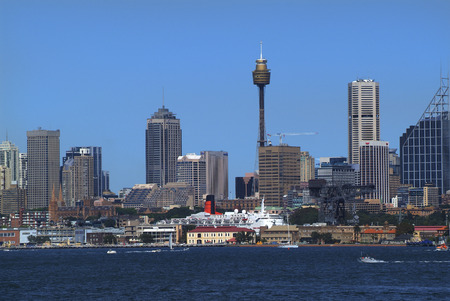 Australia, port and skyline of Sydney