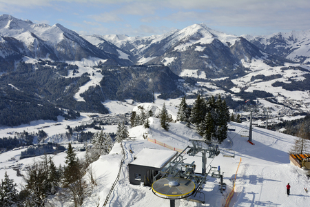 Austria, ski resort Fieberbrunn