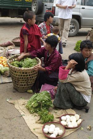 Markttag in der Ortschaft Wangdue Phodrang