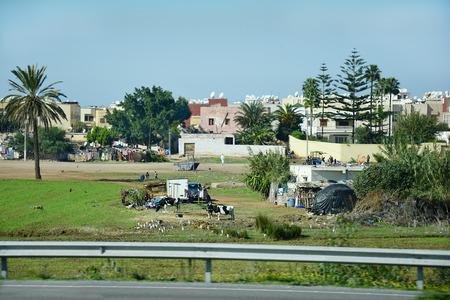 Morocco, poorly settlement in the suburbs of Casablanca