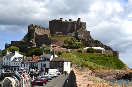 Great Britain, Jersey Island, Gorey Castle;  Mont Orgueil Castle
