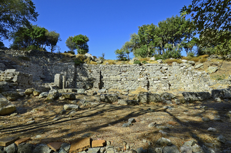 Greece, Samothrace, Sanctuary of the great gods in Palaeopolis, ancient monument of Cabeiri