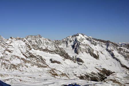 Austria, winter sports area Stubaier glacier in Austrian Alps