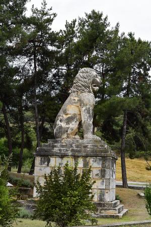 Greece, ancient monument, Lion of Amphipoli