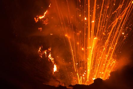 Volcano Yasur Eruption