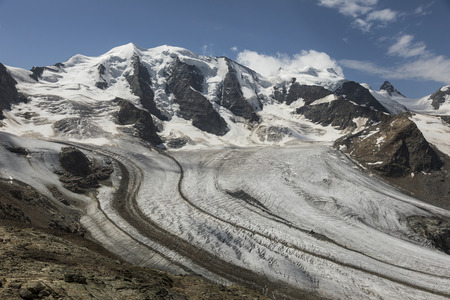 Mountain Range Diavolezza in the Swiss alps, Engadin, Graubunden, Switzerland