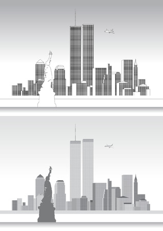 WTC World Trade Center, september eleven, new york skyline