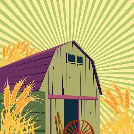 Farm rural sceneの素材 [FY31072369516]