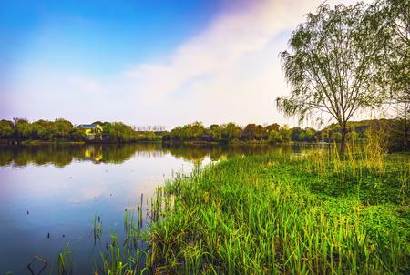 Photo pour Traditional Chinese Garden Park. - image libre de droit