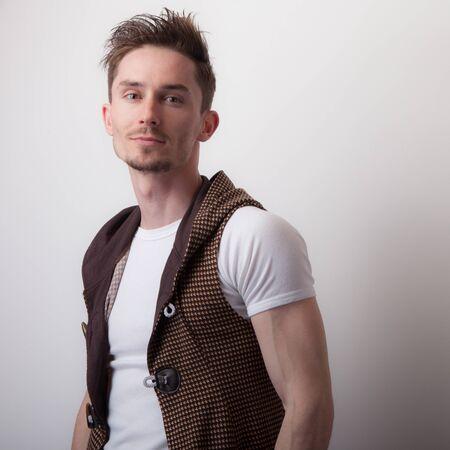 Photo pour Handsome young elegant man studio portrait. - image libre de droit