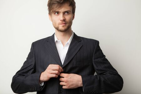 Photo for Handsome young elegant man studio portrait. - Royalty Free Image