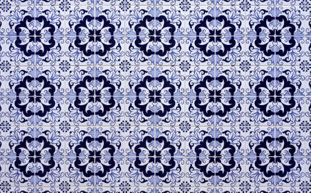 Old tiled Background - portuguese ajulejos