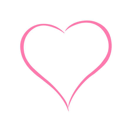Illustration for Pink color Heart icon. Isolated vector illustration. - Royalty Free Image