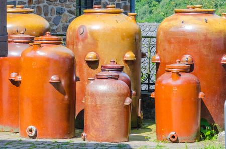 Jars Jugs clay pots for Storing Oil vinegar sauerkraut wine etc.