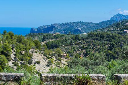 Wild West Coastline of Mallorca, Spain in the background the Mediterranean Sea.