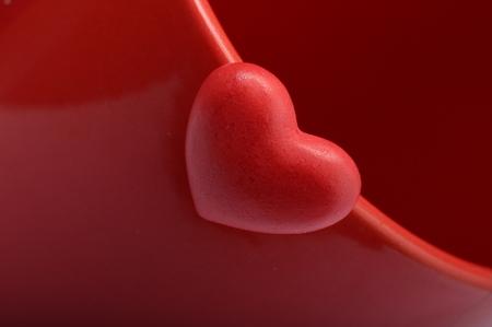 Photo pour Red heart for love and valentine - image libre de droit