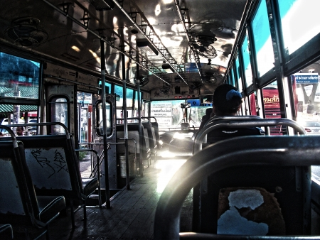The Perspective in a Thai bus