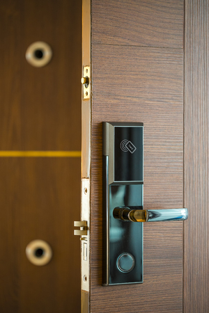 Photo for Smart Card Door Key Lock System For Hotels/business - Technology Market. - Royalty Free Image