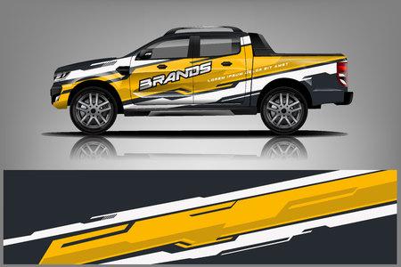 Ilustración de Truck Wrap design for company, decal, wrap, and sticker. vector eps10 - Vector - Imagen libre de derechos