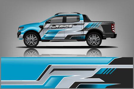 Photo pour Truck Wrap design for company - image libre de droit