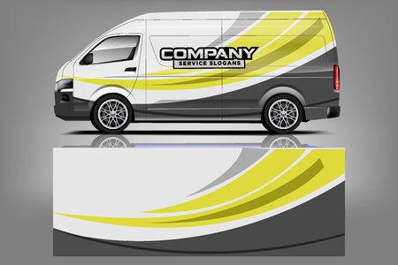 Photo pour Van car Wrap design for company - image libre de droit