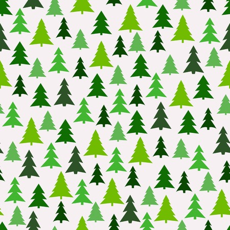 Seamless pattern with green fir-trees.のイラスト素材