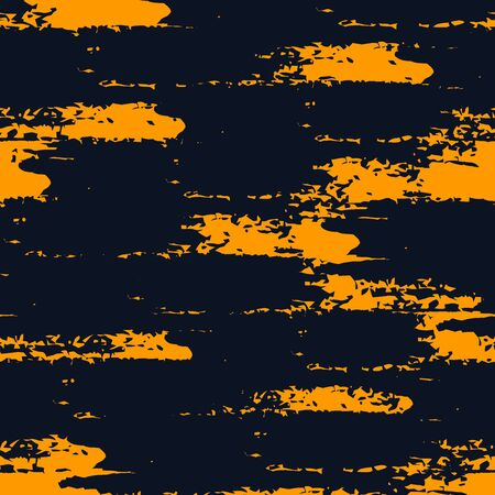 Illustration pour Grunge brush stroke seamless pattern. Organic, natural camouflage texture. Hand drawn black ink, paint smears print. Freehand artistic modern background. Vector handdrawn abstract graphic wallpaper - image libre de droit