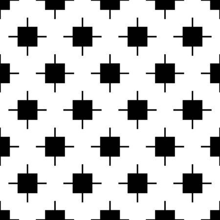 Cross shapes seamless pattern. Ethnic ornament. Folk background. Geometric wallpaper. Inca crosses image. Tribal motif. Vector art. Ancient mosaic. Digital paper, web design, textile print, abstract.