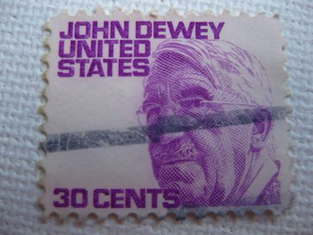 Vintage John Dewey 30 cent stamp