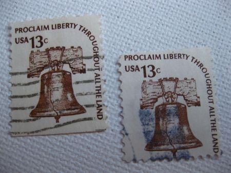 Vintage proclaim Liberty 13 cent stamp