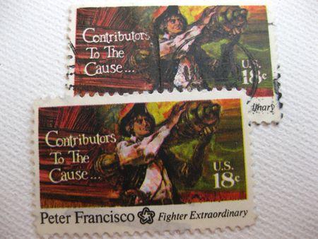 vintage Peter Francisco 18 cent stamp