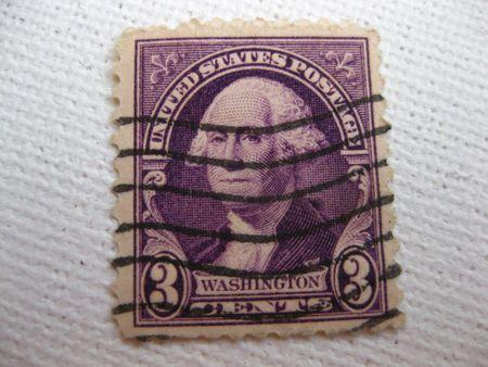 Vintage Washington 3 cent stamp