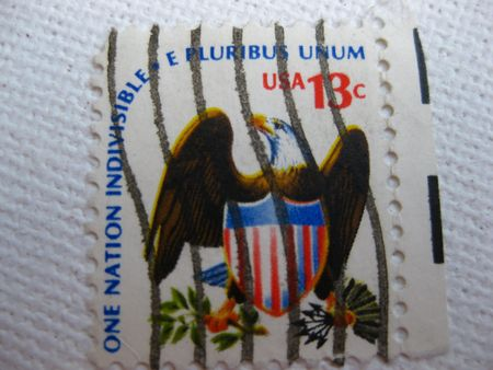 Vintage one nation indivisible e pluribus unum stamp 13 cent stamp