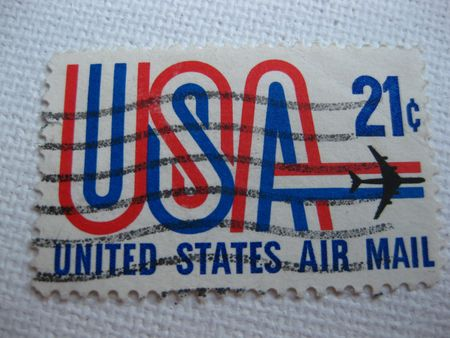 Vintage United States Air Mail 21 cent stamp