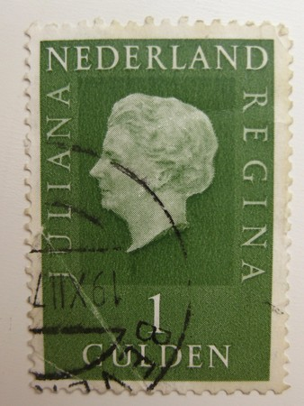 Vintage stamp from the Netherlands