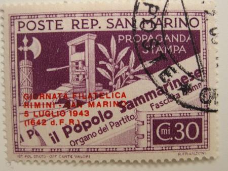 Vintage stamp of San Marino